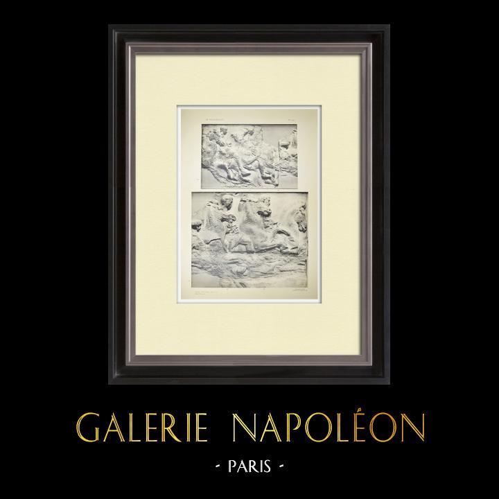 Antique Prints & Drawings | Parthenon - Ionic frieze of Cella - South side - Pl. 90 | Heliogravure | 1912