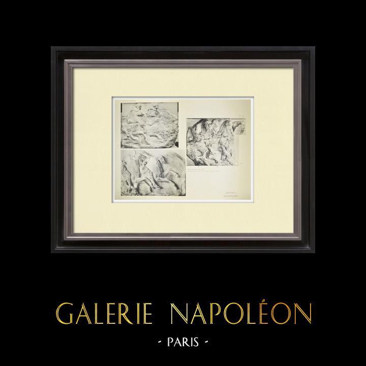 Alte Stiche & Zeichnungen | Parthenon - Ionenfries von Cella - Südlich Seite - Pl. 93 | Heliogravüre | 1912