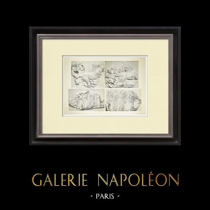 Alte Stiche & Zeichnungen | Parthenon - Ionenfries von Cella - Südlich Seite - Pl. 97 | Heliogravüre | 1912