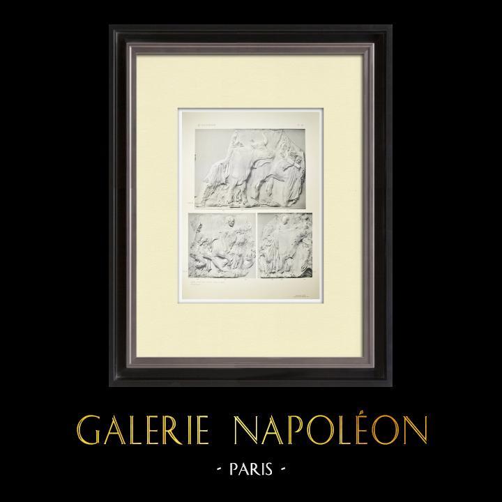 Antika Tryck & Ritningar | Parthenon - Ionisk fris i Cella - Syd - Pl. 98 | Heliogravyr | 1912
