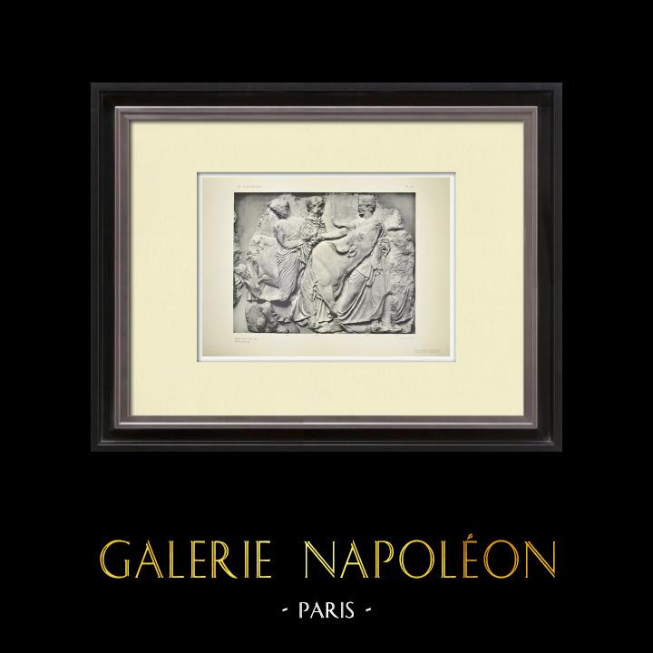 Antique Prints & Drawings | Parthenon - Ionic frieze of Cella - South side - Pl. 99 | Heliogravure | 1912