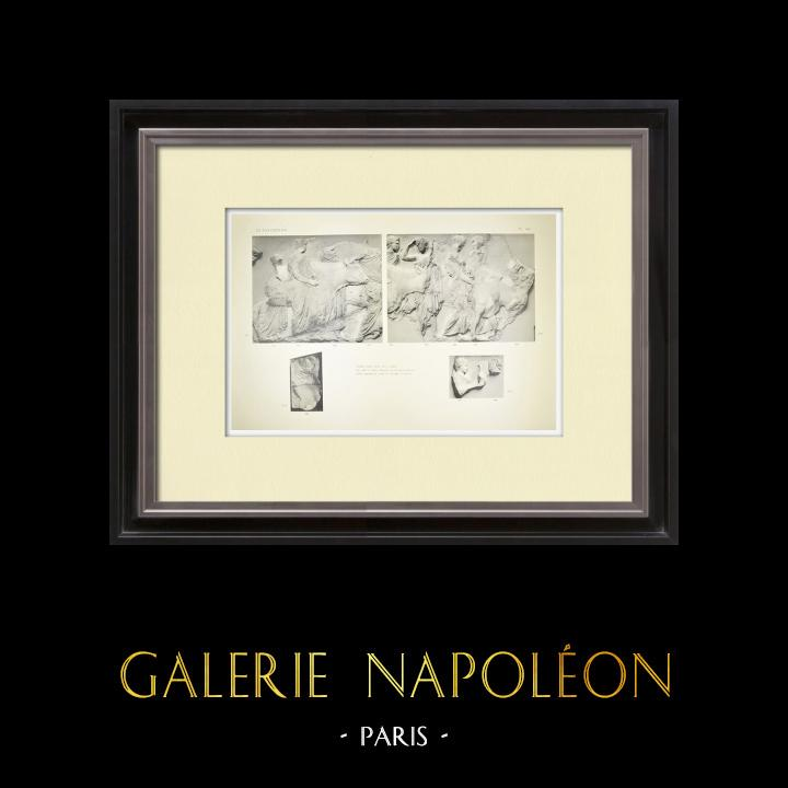 Alte Stiche & Zeichnungen | Parthenon - Ionenfries von Cella - Südlich Seite - Pl. 100 | Heliogravüre | 1912