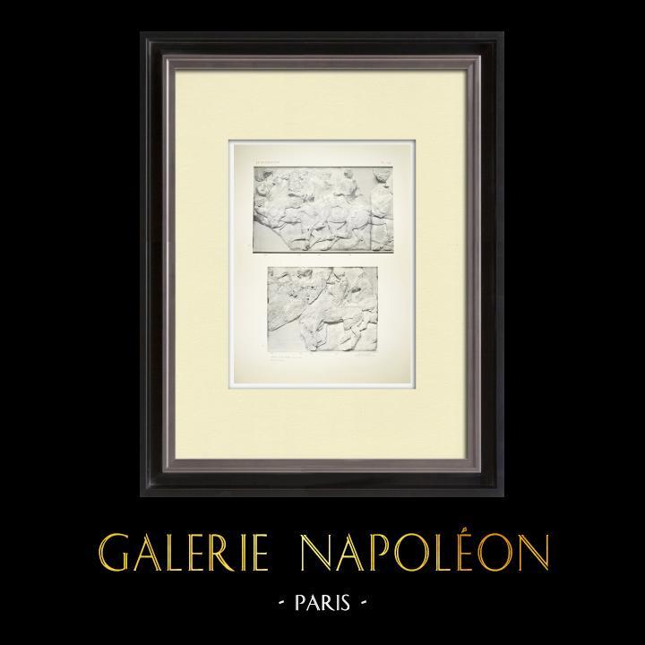 Alte Stiche & Zeichnungen | Parthenon - Ionenfries von Cella - Nord Seite - Pl. 104 | Heliogravüre | 1912