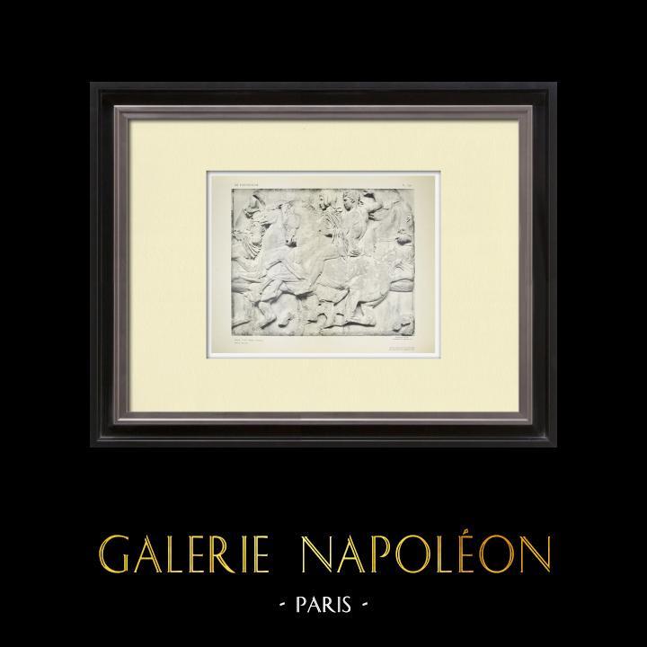 Antique Prints & Drawings   Parthenon - Ionic frieze of Cella - North side - Pl. 106   Heliogravure   1912