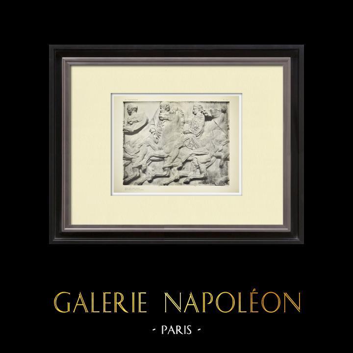 Alte Stiche & Zeichnungen | Parthenon - Ionenfries von Cella - Nord Seite - Pl. 107 | Heliogravüre | 1912