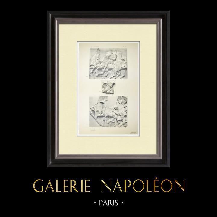 Stampe Antiche & Disegni | Partenone - Fregio ionico della Cella - Lato nord - Pl. 111 | Heliogravure | 1912