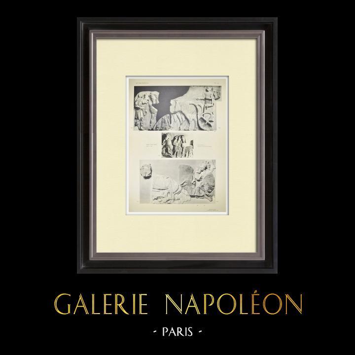Stampe Antiche & Disegni | Partenone - Fregio ionico della Cella - Lato nord - Pl. 112 | Heliogravure | 1912