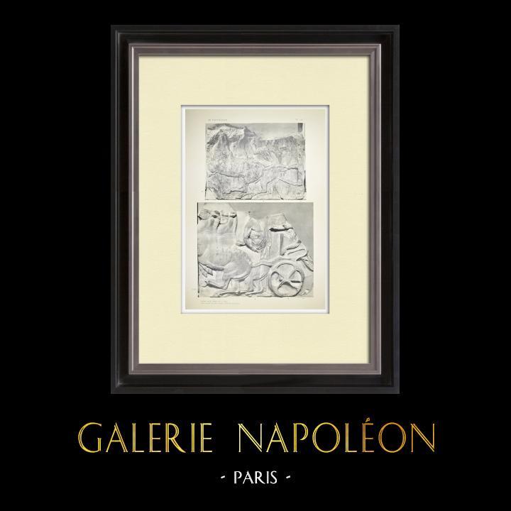 Alte Stiche & Zeichnungen   Parthenon - Ionenfries von Cella - Nord Seite - Pl. 113   Heliogravüre   1912