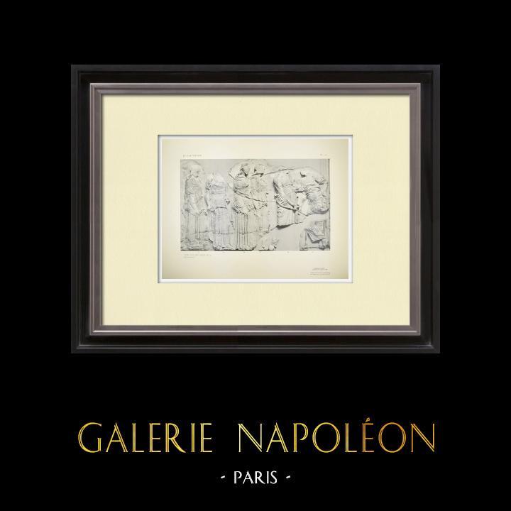Alte Stiche & Zeichnungen   Parthenon - Ionenfries von Cella - Ostseite - Pl. 121   Heliogravüre   1912