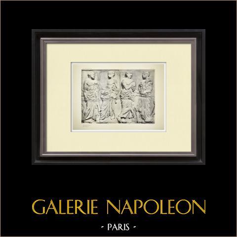 Parthenon - Ionic frieze of Cella - East side - Pl. 122 | Original heliogravure. Anonymous. 1912