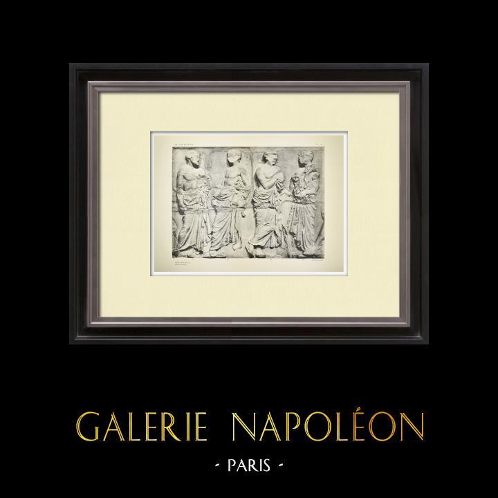 Stampe Antiche & Disegni | Partenone - Fregio ionico della Cella - Lato est - Pl. 122 | Heliogravure | 1912