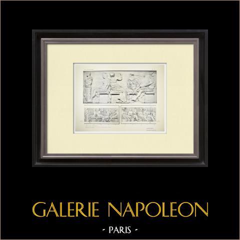 Parthenon - Ionic frieze of Cella - East side - Pl. 126 | Original heliogravure. Anonymous. 1912