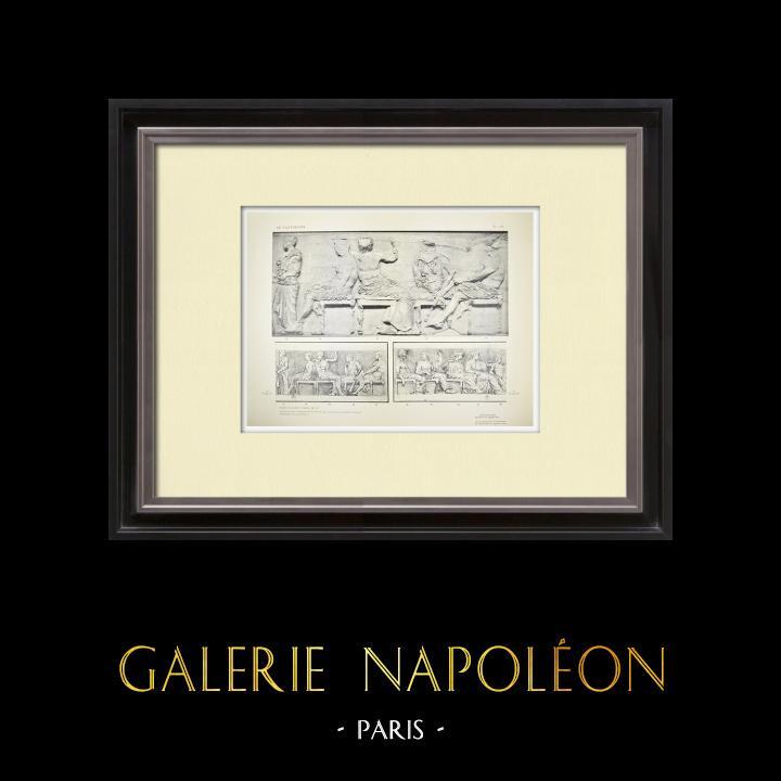 Alte Stiche & Zeichnungen | Parthenon - Ionenfries von Cella - Ostseite - Pl. 126 | Heliogravüre | 1912