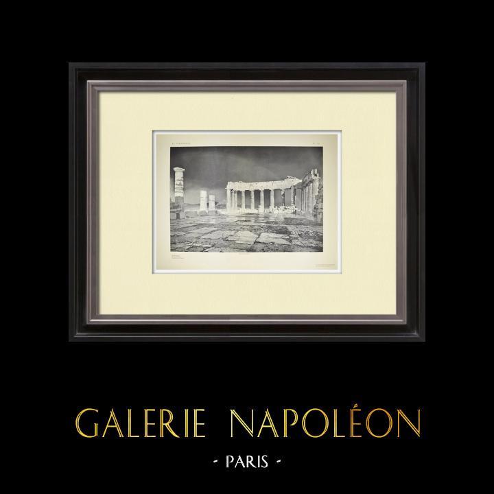 Alte Stiche & Zeichnungen   Parthenon - Innere - Ansicht vom Westen - Pl. 129   Heliogravüre   1912