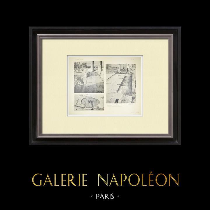 Grabados & Dibujos Antiguos | Partenón - Interior - Puerta este - Pl. 132 | Heliograbado | 1912