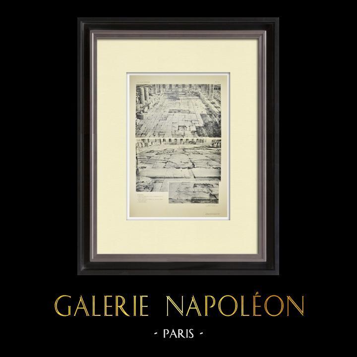 Grabados & Dibujos Antiguos | Partenón - Interior - Pl. 134 | Heliograbado | 1912