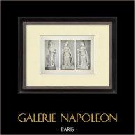 Partenone - Statua di Atena Parthenos - Fidia - Pl. 136