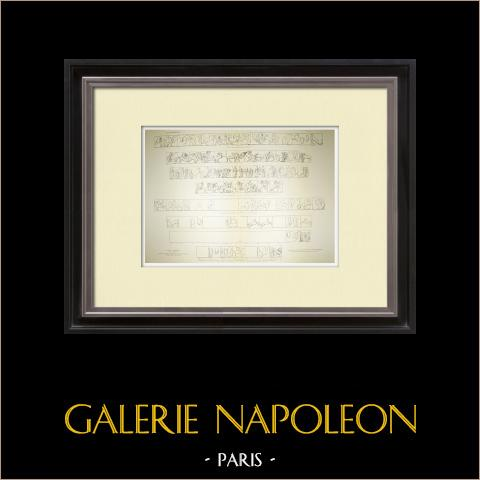 Metope del Partenone - Pl. 23-24 | Heliogravure originale. Anonima. 1912