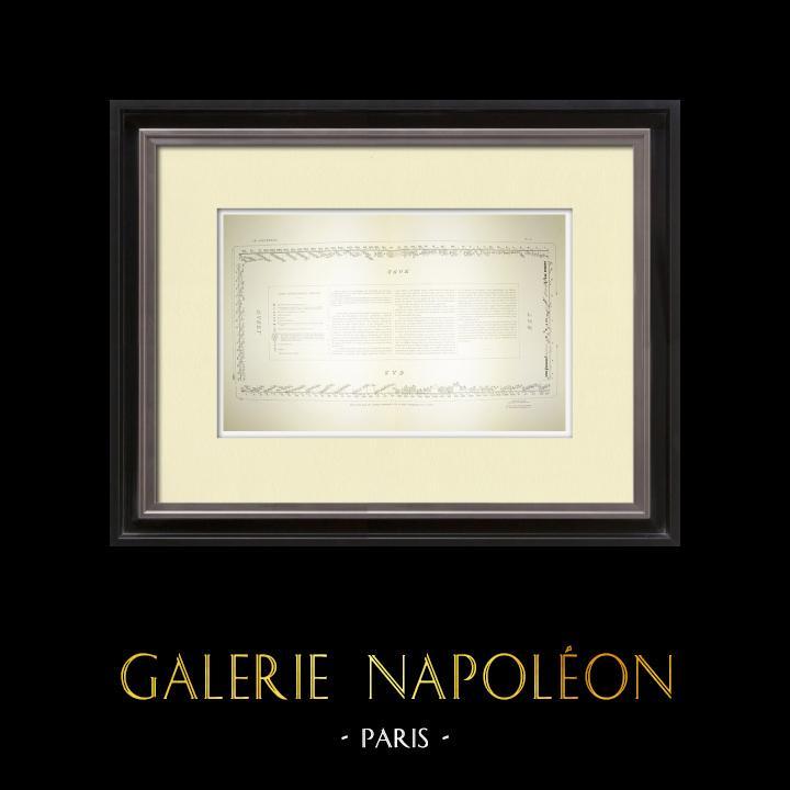 Alte Stiche & Zeichnungen   Parthenon - Ionenfries von Cella - Plan der Prozession - Pl. 75   Heliogravüre   1912