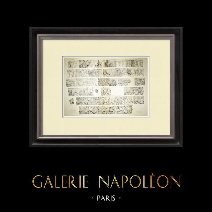 Alte Stiche & Zeichnungen | Parthenon - Ionenfries von Cella - Nord Seite - Pl. 101-102 | Heliogravüre | 1912