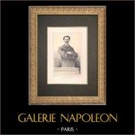 Portrait de Paul de Cassagnac (1842-1904)   Typogravure originale dessinée par Guth, gravée par Thiriat. 1890