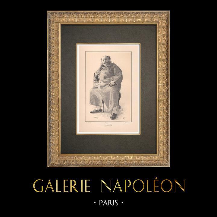 Gravures Anciennes & Dessins | Portrait de Henri Opper de Blowitz (1825-1903) | Typogravure | 1890