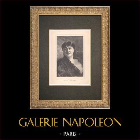 Porträtt av Céline Montaland (1843-1891) | Original typogravyr graverade av Dochy efter Boldini. 1890