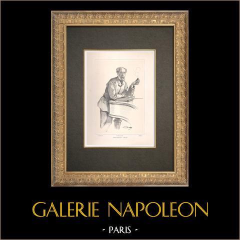Portrait de Édouard Lalo (1823-1892) | Typogravure originale dessinée par Mathey, gravée par Boileau. 1890