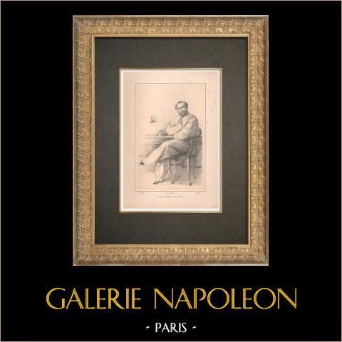 Ritratto di Alexandre Dumas (1824-1895) | Typogravure originale disegnata da Guth, incisa da Rousseau. 1890