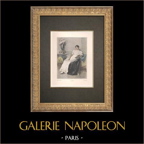 Porträtt av Mademoiselle Mars (1779-1847) | Original typogravyr efter Lynch. 1890