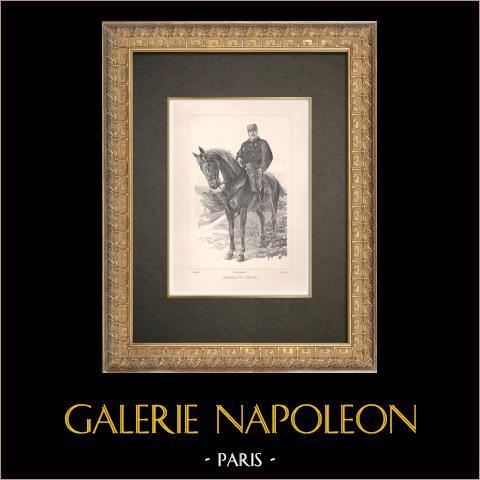Porträtt till Häst av Joseph de Miribel (1831-1893) | Original typogravyr efter teckning av Guth, graverade av Ruffe. 1890