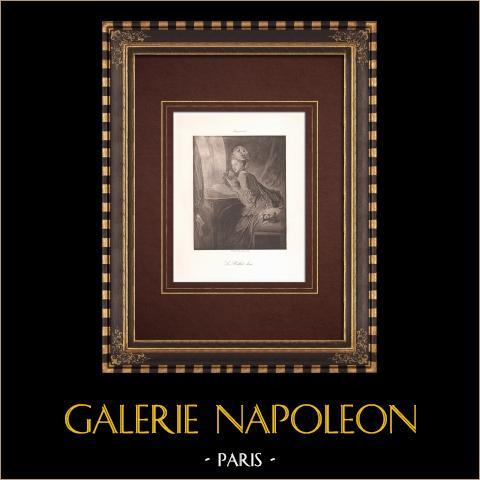 Le Billet doux - La Lettre d'amour (Fragonard) | Héliogravure originale d'après Fragonard. 1890