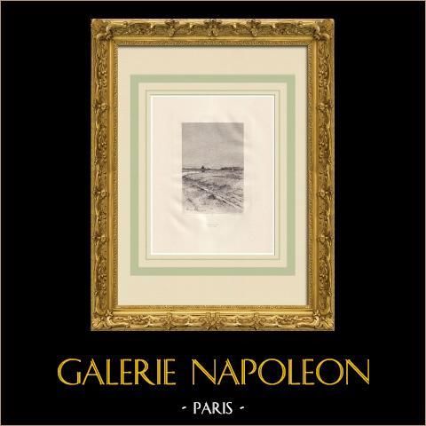 Actes et Paroles - Antes do exílio - Roma (Victor Hugo) | Água-forte original sobre papel Arches desenhada e gravada por Flameng. 1888