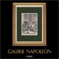Première délibération des trois Consuls provisoires au Petit-Luxembourg   Gravure sur bois originale dessinée par Philippoteaux, gravée par Barbant. 1870