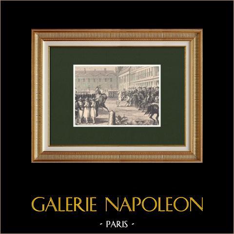 Napoleon Bekeek Zijn Troepen Voor de Triomfboog van de Carrousel in 1810 |