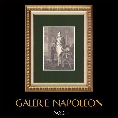 Napoleon w Hisi Gabinet w Tuileries (Jacques Louis David 1812) |