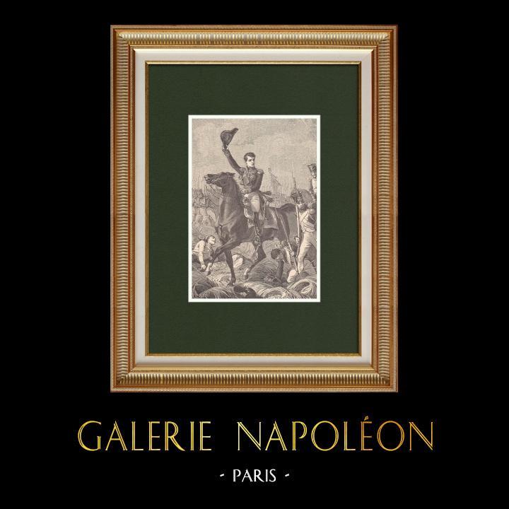 Gravures Anciennes & Dessins | Portrait du général Gudin - Bataille de Valoutina-Gora (Août 1812) | Gravure sur bois | 1870