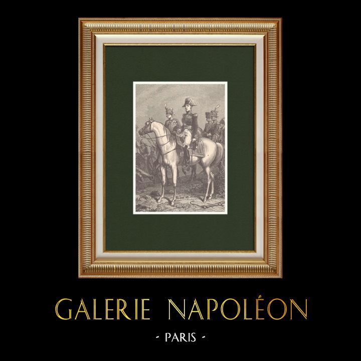 Gravures Anciennes & Dessins | Portrait du Maréchal Claude Victor Perrin dit Victor - Maréchal d'Empire (1764-1841) | Gravure sur bois | 1870