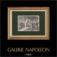 Baptême de Napoléon II Roi de Rome (9 Juin 1811)   Gravure sur bois originale dessinée par Philippoteaux, gravée par Dugon. 1870