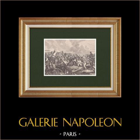 Bataille de Polotsk - Maréchal Gouvion-Saint-Cyr (Octobre 1812) | Gravure sur bois originale dessinée par Philippoteaux, gravée par Dumont. 1870