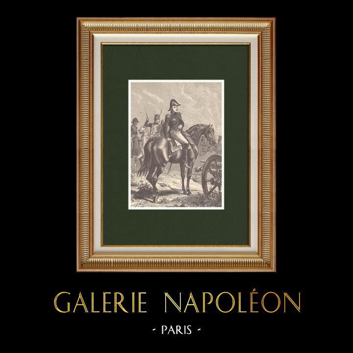 Gravures Anciennes & Dessins | Portrait de Bertrand Clauzel - Maréchal de France (1772-1842)  | Gravure sur bois | 1870