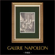 Conférence de Talleyrand avec M. de Saint-Julien   Gravure sur bois originale dessinée par Philippoteaux, gravée par Dugon. 1870