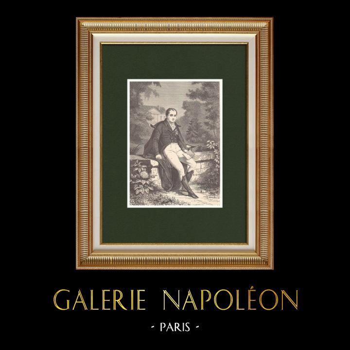 Antique Prints & Drawings | Portrait of Joseph Napoléon Bonaparte (1768-1844) | Wood engraving | 1870
