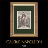 Portrait de Edouard Mortier - Maréchal d'Empire (1768-1835) | Gravure sur bois originale dessinée par Philippoteaux. 1870