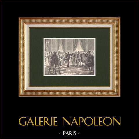 Napoleon I and the Corps Législatif w Pałacu Tuileries (1814) |