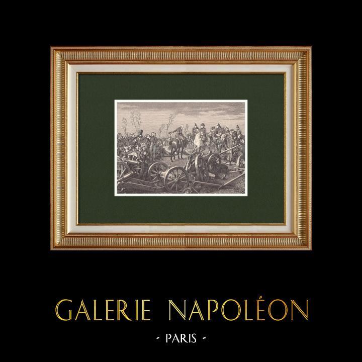 Grabados & Dibujos Antiguos   Batalla de Montmirail - Campaña de Francia - Sexta Coalición (1814)   Grabado xilográfico   1870