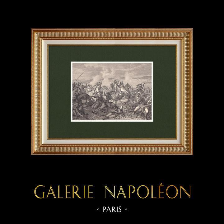 Gravures Anciennes & Dessins | Charge des dragons de l'Impératrice à Saint-Dizier (26 mars 1814)  | Gravure sur bois | 1870