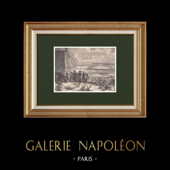 Gravures Anciennes & Dessins | Bataille de Ligny - Napoléon Ier - Cent-Jours (16 Juin 1815) | Gravure sur bois | 1870