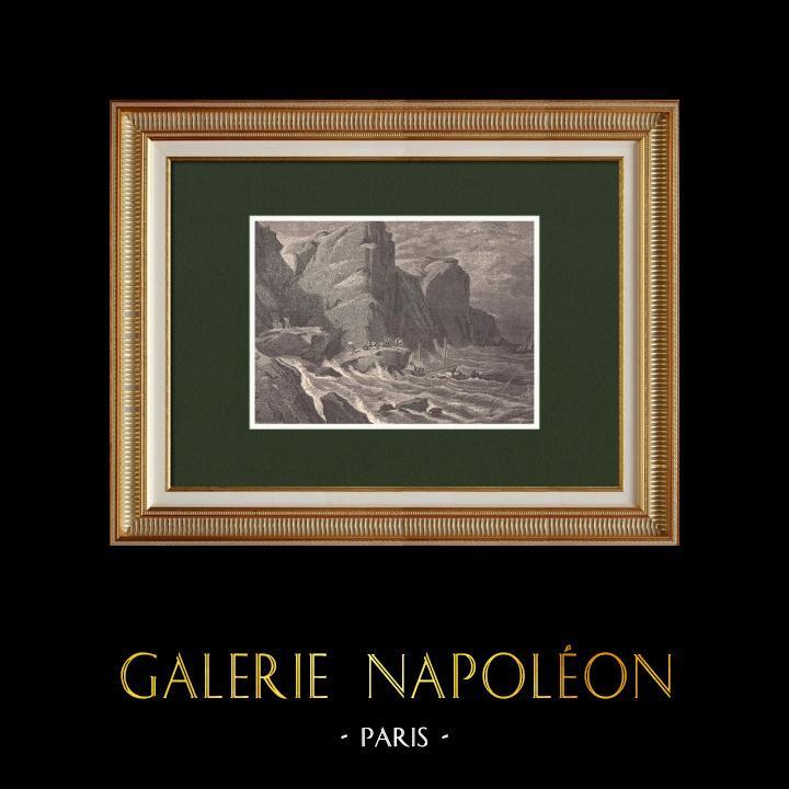 Gravures Anciennes & Dessins   Marchandises de contrebande - Napoléon Bonaparte   Gravure sur bois   1870