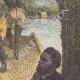 DÉTAILS 05 | Louis de Carné voyageant dans une barque Cambodgienne - Mékong (Asie)